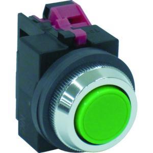 IDEC IDEC 平形押しボタンスイッチ 緑(ABS101NG)|protools