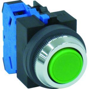 IDEC IDEC 平形押しボタンスイッチ 緑(ABS110NG)|protools