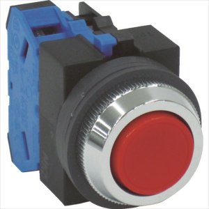 IDEC IDEC 平形押しボタンスイッチ 赤(ABS110NR)|protools