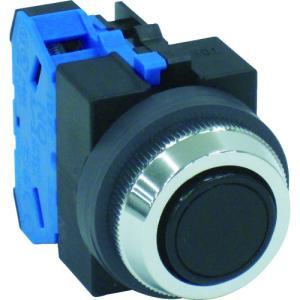 IDEC IDEC 平形押しボタンスイッチ 黒(ABS110NB)|protools