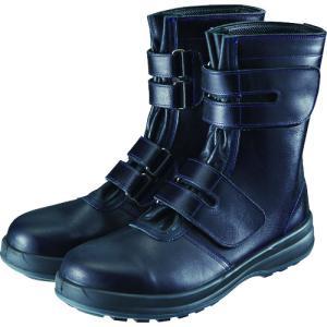 シモン 安全靴 マジック式 8538黒 25.0cm【8538N-25.0】|protools