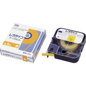 マックス MAX チューブマーカー レタツイン テープカセット9mm幅 黄(LM-TP309Y)|protools