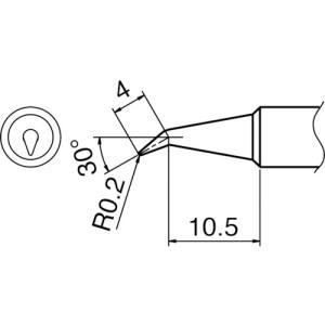 白光 こて先 0.2BR型(T18-BR02)|protools