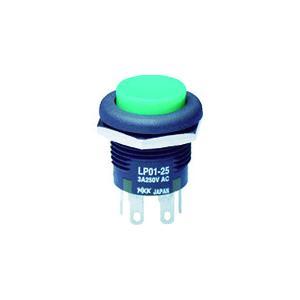 NKKスイッチズ 低背形押ボタンスイッチ LP ボタン緑 2極ON−(ON)(LP01-25CCKNS1M)|protools