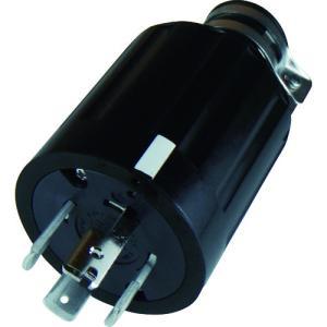 アメリカン電機 引掛形 ゴムプラグ 接地3P60A600V(4662R)|protools
