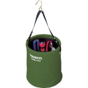 トラスコ中山 TRUSCO アタッチメント付電工バケツΦ270X300 OD色(TADB-270-OD)|protools
