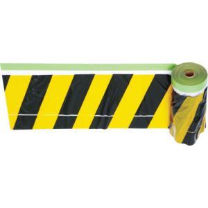 トラスコ中山 TRUSCO 安全標示フィルム付き粘着テープ 黄/黒 THMT1