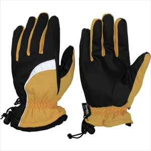 おたふく手袋 ホットエースプロライト(リフレクタータイプ) イエロー×ブラック L(HA-328-YB-L)|protools