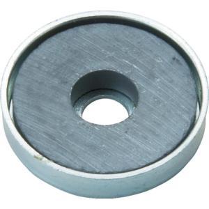 トラスコ中山 TRUSCO キャップ付フェライト磁石 外径66mmX厚み9.8mm 1個入(TFC66RA-1P)|protools