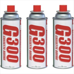 栄製機 サカエ富士 カセットボンベ3本パック (G300-3P)|protools