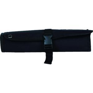 トラスコ中山 TRUSCO ツールロール 460X320 10ポケット ブラック色(TTR-450-BK)|protools