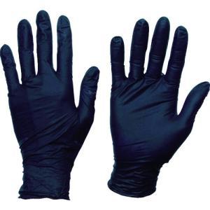 トラスコ TRUSCO 使い捨てニトリル手袋TGスタンダード 0.08粉無黒L 100枚 【TGNN08BKL】|protools