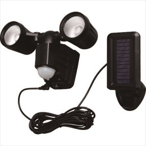 アイリスオーヤマ IRIS ソーラー式LED防犯センサーライト 200lm 2灯(LSL-SBTN-200D)|protools