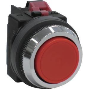 IDEC 平形押しボタンスイッチ 赤 (ABN101R)|protools