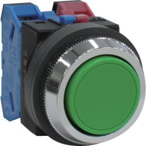 IDEC 平形押しボタンスイッチ 緑 (ABN111G)|protools