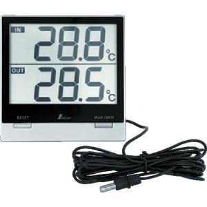 シンワ測定 デジタル温度計SmartC_最高・最低_室内・室外防水外部センサー (73118)|protools