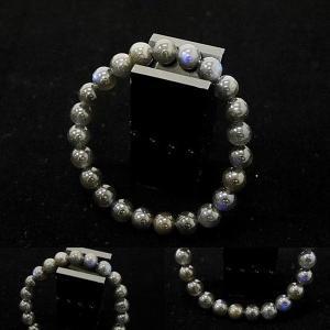 [Original天然石]青シラー ブラック ラブラドライト カナダ産  [8〜8.5mm]100005|proud