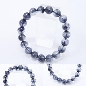 [Original天然石] 渋い青黒庭園 ブルーブラックガーデンルチル [10.5ー11mm]100025|proud