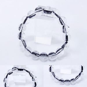 [Original天然石] 迫力の極太黒柱 黒針タイチンルチル [12mm]100029|proud