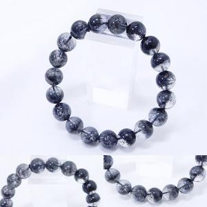 [Original天然石] 渋い黒庭園 ブラックガーデンファントム[10.mm]100035|proud