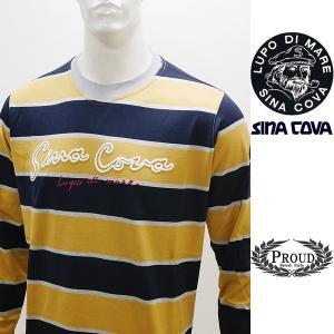 シナコバ 特選品 ¥23000+税[LL] 長袖 Tシャツ メンズ ケーブルステッチワークデザイン SINACOVA SARDEGNA 20221007    sc KNs m 20110020|proud