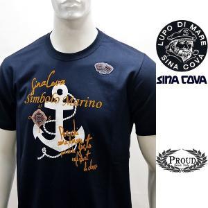 シナコバ ¥15000+税[L] 半袖Tシャツ メンズ Simbolo Marino SINACOVA SARDEGNA 20221044    sc KNs m 20110540 proud
