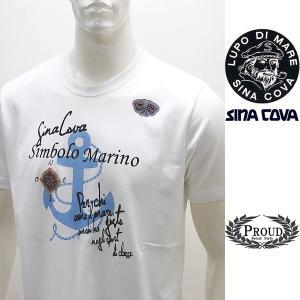 シナコバ 特選品 ¥15000+税[L] 半袖Tシャツ メンズ Simbolo Marino SINACOVA SARDEGNA 20221045    sc KNs m 20110540|proud