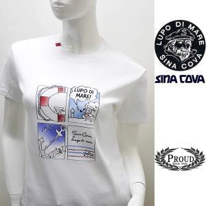シナコバ レディース 特選品 ¥16000+税[9号] 半袖Tシャツ LUPO DI MARE アニメプリントデザイン 20221046       sc KNs l 20180540|proud