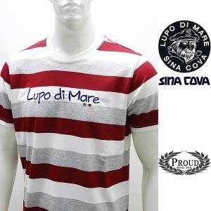 シナコバ ¥17000+税[LL] 半袖Tシャツ メンズ カラーボーダースタイル SINACOVA SARDEGNA 20221062    sc KNs m 20110590 proud