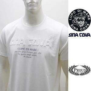 シナコバ 特選品 ¥22000+税[L] 半袖Tシャツ メンズ 立体ロゴプレスデザイン SINACOVA GENOVA 20221065     sc KNs m 20120560|proud