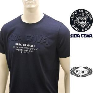 シナコバ 特選品 ¥22000+税[L] 半袖Tシャツ メンズ 立体ロゴプレスデザイン SINACOVA GENOVA 20221067     sc KNs m 20120560|proud