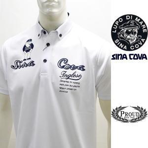 シナコバ 特選品 ¥24000+税[L] ゴルフシャツ メンズ バックショットモデル DRY STATUS SINACOVA INGLESE 20221073    sc KNs m 20150560|proud