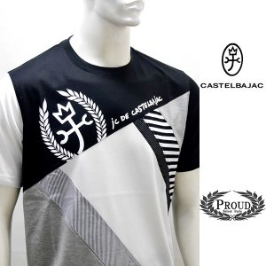 カステルバジャック 特選品 ¥19000+税[LL/50] 半袖 Tシャツ メンズ ファブリックチェンジモデル 20301043   jc KNs m 21570114|proud