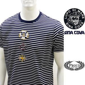シナコバ 特選品 ¥21000+税[LL] 半袖Tシャツ メンズ マリンアプローチデザイン SINACOVA GENOVA 20301078    sc KNs m 20120540|proud