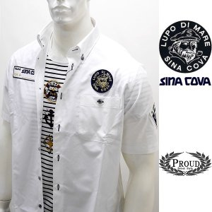 シナコバ 特選品 ¥26000+税[L] 半袖 シャツ メンズ 5ポイント シナコバレーシングシャツ SINACOVA GENOVA 20301081      sc KNs m 20124570|proud
