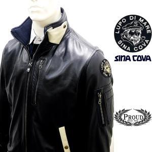 シナコバ ¥120000+税[L] レザー ジャケット メンズ MA-1 タイプ  羊革ライトウエイトキルティング SINACOVA GENOVA 20911001   sc KNf m 20223910|proud