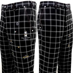 シナコバ ¥28000+税[92] ゴルフ パンツ メンズ チェック柄 フロントアイコニックモデル ...