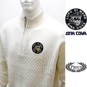 シナコバ ¥39000+税 [L]セーター メンズ バックショットモデル ジャガードブロック SIN...