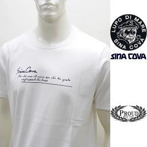シナコバ ¥12000+税[L]半袖 Tシャツ メンズ Perchi ama il mare バックショットモデル SINACOVA GENOVA 21226049   sc KTs m 21120520|proud