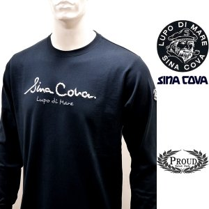 シナコバ ¥15000+税[L]長袖 Tシャツ メンズ フロントアイコニック ロングシーズンタイプ SINACOVA GENOVA 21906001    sc KTf m 21220020 proud
