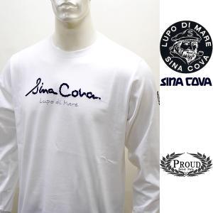 シナコバ ¥15000+税[L]長袖 Tシャツ メンズ フロントアイコニック ロングシーズンタイプ SINACOVA GENOVA 21906003    sc KTf m 21220020 proud