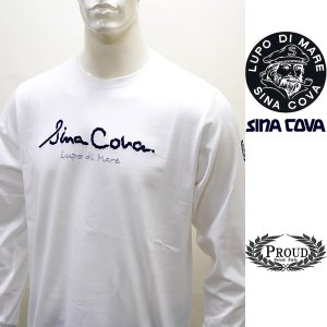 シナコバ ¥15000+税[LL]長袖 Tシャツ メンズ フロントアイコニック ロングシーズンタイプ SINACOVA GENOVA 21906004    sc KTf m 21220020 proud
