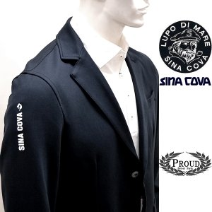 シナコバ ¥39000+税[L]ニット ジャケット メンズ カジュアルテーラード スリーブロゴポイントタイプ 21906017          sc KTf m 21253010|proud
