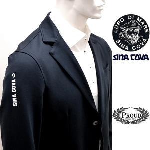 シナコバ ¥39000+税[LL]ニット ジャケット メンズ カジュアルテーラード スリーブロゴポイントタイプ 21906018          sc KTf m 21253010|proud