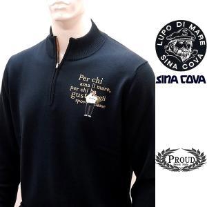 シナコバ ¥39000+税 [LL]セーター メンズ フロントアイコニック WOOL100% ハイゲージタイプ SINACOVA GENOVA 21906030            sc KTf m 21222030 proud
