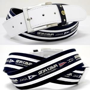 シナコバ ベルト 牛革コンビ ゴルフ アクセサリー ウェア ロゴテープデザイン メンズ レディース SINACOVA 21906040 sc KTf m 21276060|proud