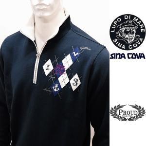 シナコバ [LL] トレーナー メンズ  ゴルフ タウンウェア 3ポイントデザイン スエット SINACOVA 21906042        sc KTf m 21220070 proud