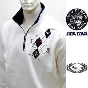 シナコバ [LL] トレーナー メンズ  ゴルフ タウンウェア 3ポイントデザイン スエット SINACOVA 21906044        sc KTf m 21220070 proud