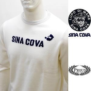 シナコバ [LL] セーター カシミア メンズ ゴルフ タウンウェア クルーネックデザイン SINACOVA 21906046   sc KTf m 21252010 proud