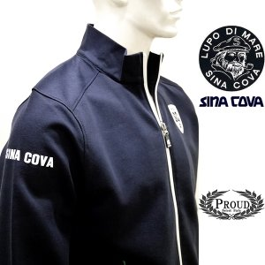 シナコバ [L] ジャケット メンズ  ゴルフ タウンウェア 背面キルティング コンビウオーマーモデル 21906047      sc KTf m 21253030 proud